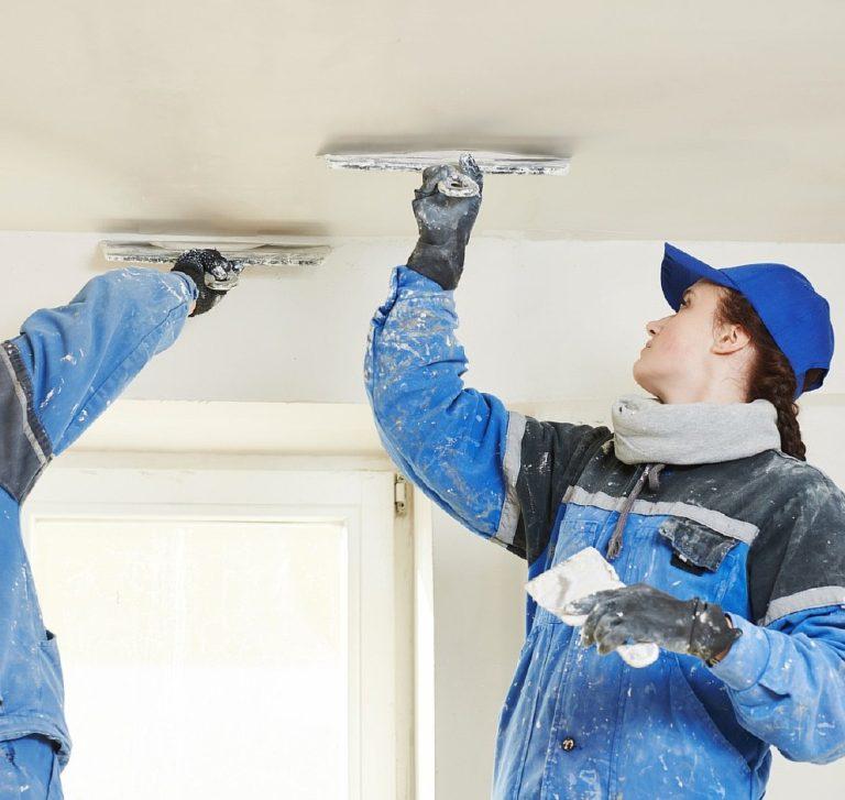 Готовим потолок под покраску